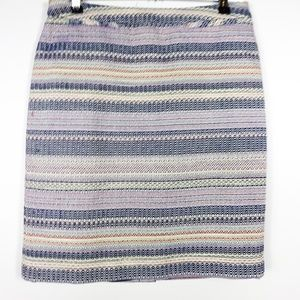 Halogen Skirt Aztec Pattern Career Back Zip Lined